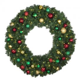 Pre-Lit Decorated Wreaths