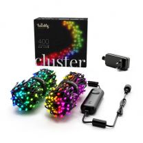 """Twinkly RGB, 4MM Cluster Lights, 400L, 4"""" sp, Wifi, Green Wire"""