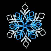 """36"""" Star Snowflake - Pure White and Blue"""