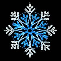 """36"""" Frost Snowflake - Pure White and Blue"""