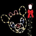 4' Silhouette Rudolph, LED