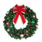 """48"""" Unlit Wreath Decorated, Colors of the Holidays"""