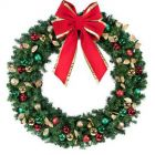 """60"""" Unlit Wreath Decorated Traditional Decor"""