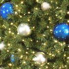 Tree Ornament Package - Blue and Silver - Large Ornaments